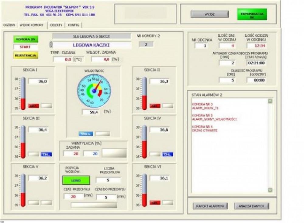 Oprogramowanie wizualizacyjne INKUBATOR-SL6PGM