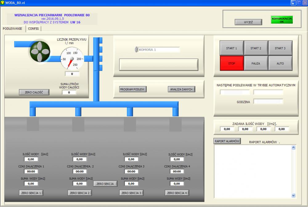 Oprogramowanie wizualizacyjne WODA 80
